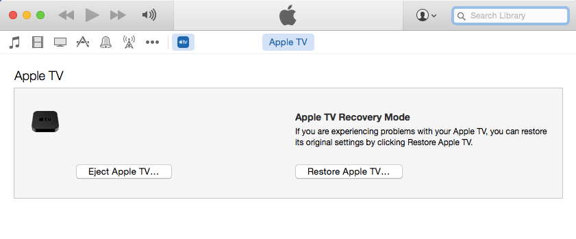 Apple TV - recovery Mode