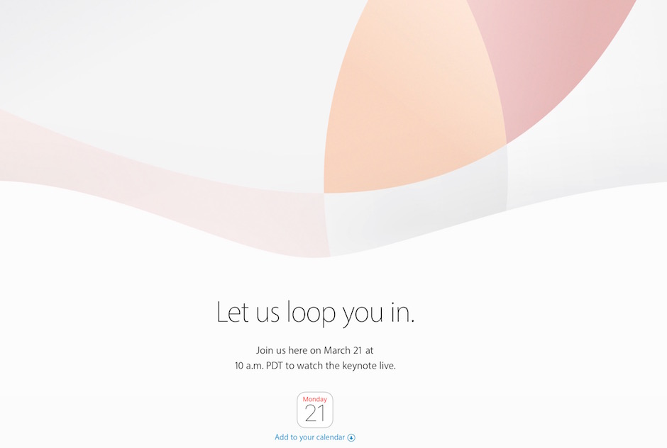 Apple March 2016 event