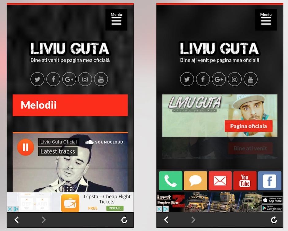 """Aplicația """"Liviu Guță"""" pentru iPhone"""