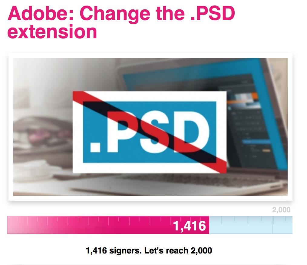 Petiție Adobe PSD