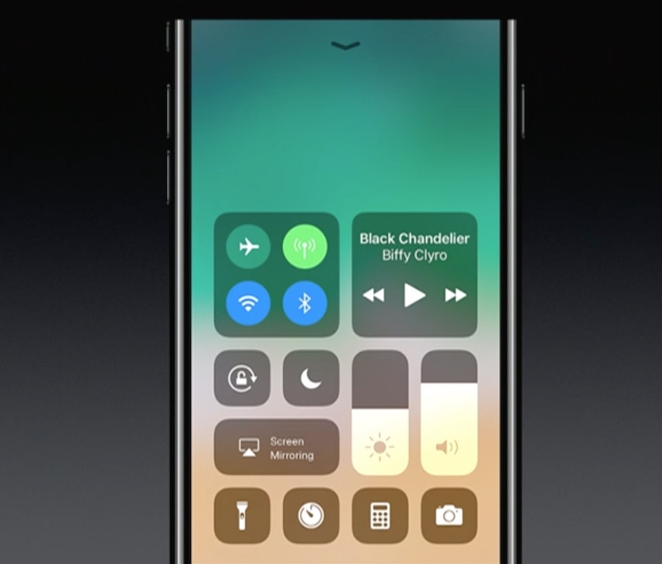 Control Center în iOS 11