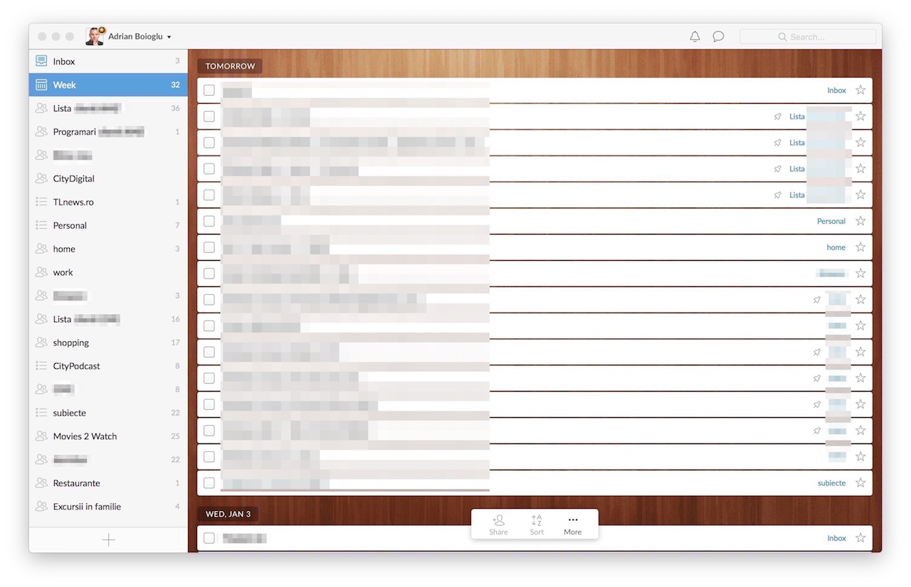 Wunderlist for Mac