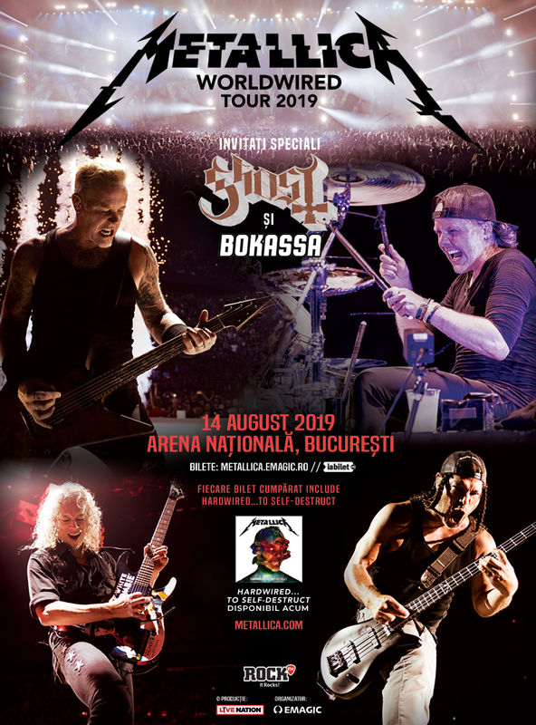 Afișul concertului Metallica Worldwired Tour