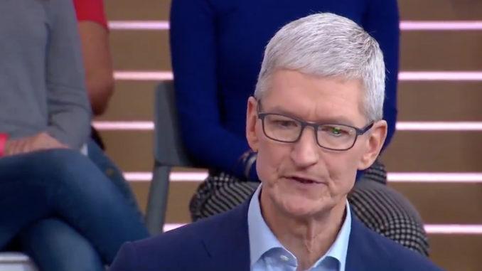 Tim Cook, CEO al companiei Apple. FOTO GMA