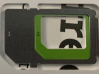 Cartelă SIM din rețeaua A1, Austria. FOTO Adrian Boioglu / boio.ro