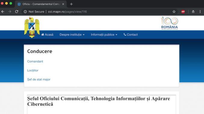 Site-ul Comandamentului Apărării Cibernetice