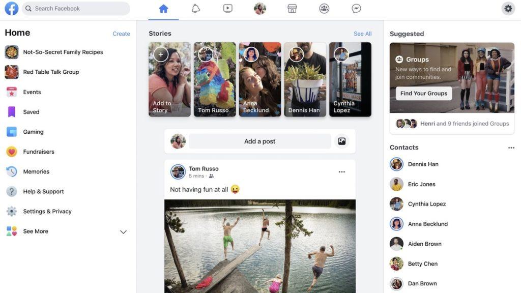 Noul Facebook pentru desktop. FOTO Facebook