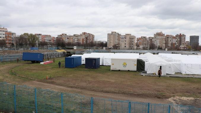 Spitalul Militar Modular pentru tratarea COVID-19 la Consanța. FOTO Adrian Boioglu