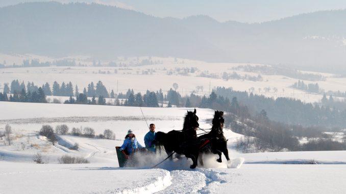 Drum de iarnă în județul Harghita. FOTO Proiectul EDEN