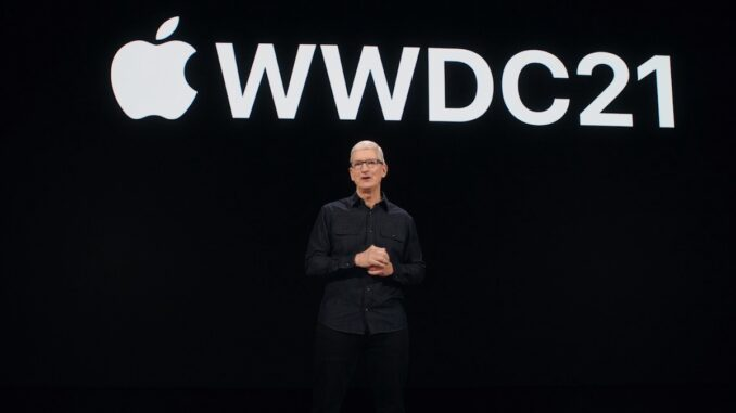 WWDC 21. FOTO Apple.com